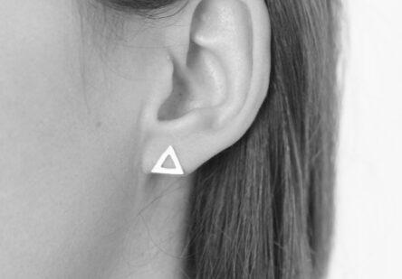 Earstuds brushed Triangle