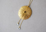 Necklace Sea Urchin with Aquamarine Gemstones