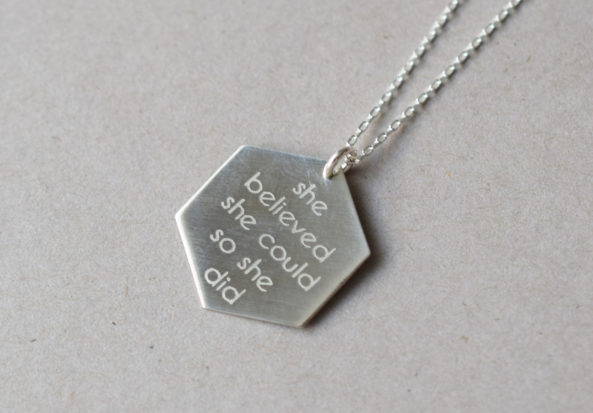 Necklace she believed