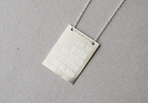 Necklace what goes around comes around