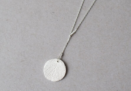 Y- Necklace with Sage Leaf Print