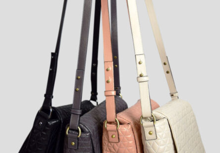 Leather Bag with Stitching