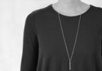 Necklace Brushed Long Stick