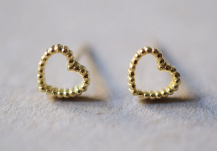 dotty Heart Earstuds