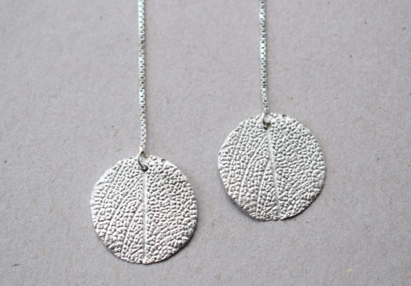Earrings Sage Leaf Print