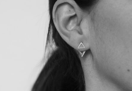 Earstuds Double Triangle