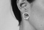 EarringsDoubleRingBrushed