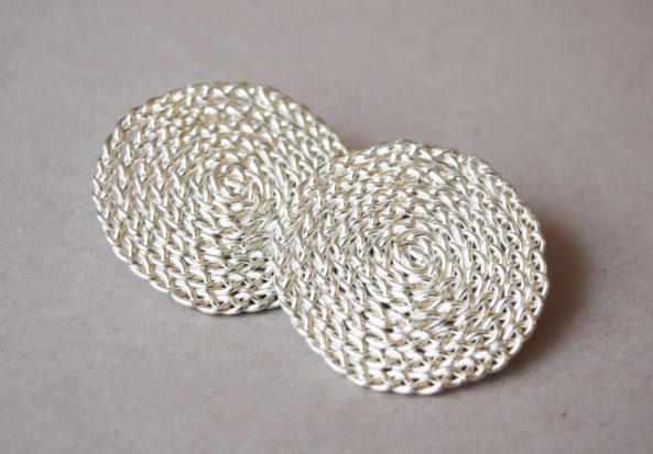 Earrings Braided
