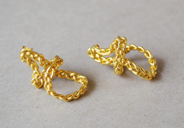 Earrings Braided Wire