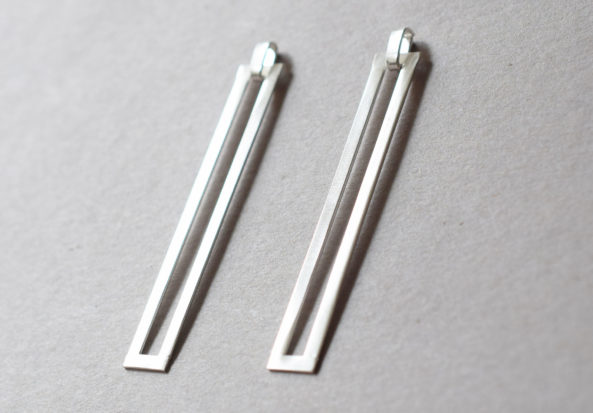 Earrings Long Square