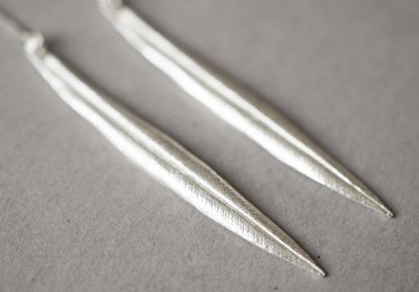 Earrings long Leaf