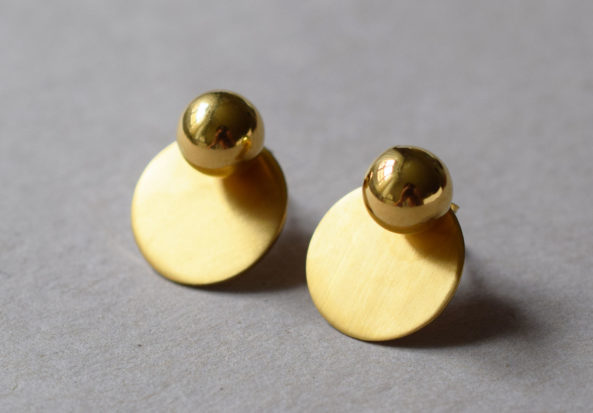 Earstuds Ball with dull Disc