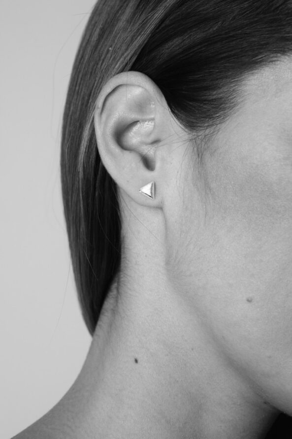 Earstuds bruhed little Triangle