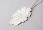 Necklace Sage Leaf with Rose Quartz Gemstone