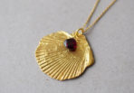 Necklace Shell with Garnet Gemstone