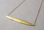 Necklace diagonally Leaf
