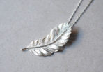Necklace flying Feather