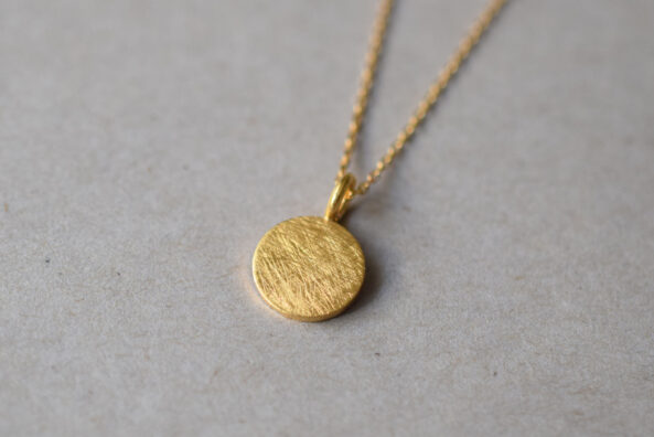 Necklace small brushed Medaillon