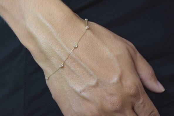 Bracelet with Zirconia Stones