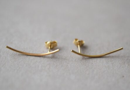 Gold Earrings Simplicity