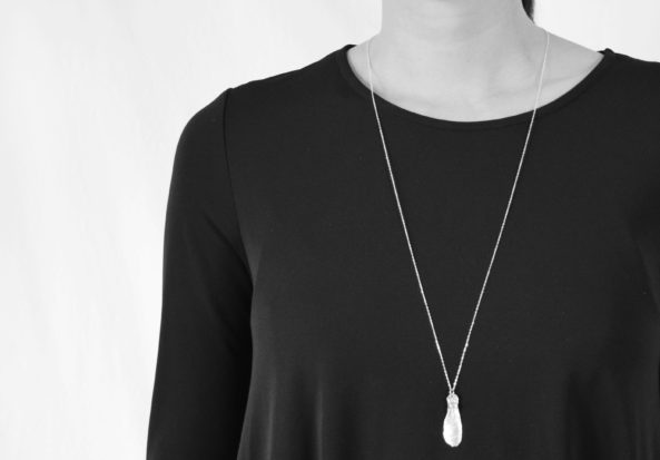 Necklace Maple with Aquamarine Gemstone