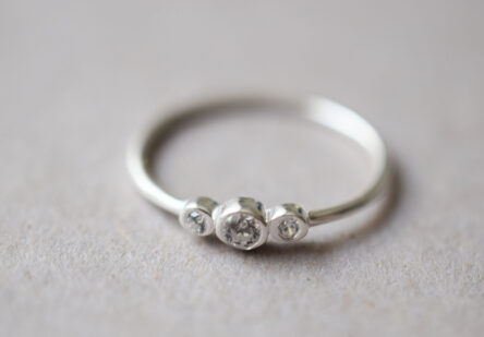 Ring 3 tiny Zirconia