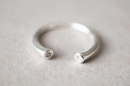 Ring Open with Zirconia Stone