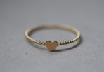 Twist Ring with tiny Heart