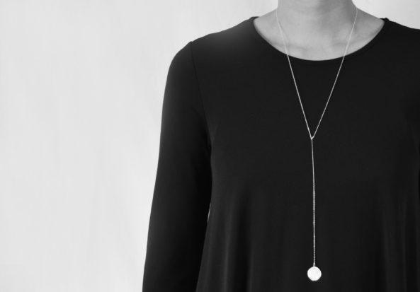 Y- Necklace with Sage Leaf