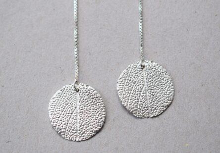 Earrings Sage Leaf Print