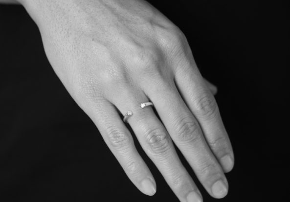 Ring Open with Zirconia Stone