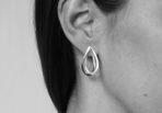 EarringsDoubleDropBrushed