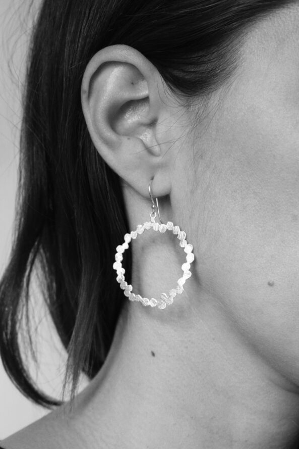 EarringsbrushedCircle