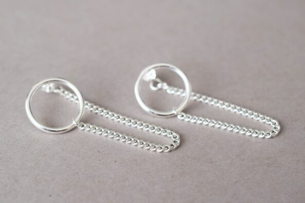Earrings Circle & Chain