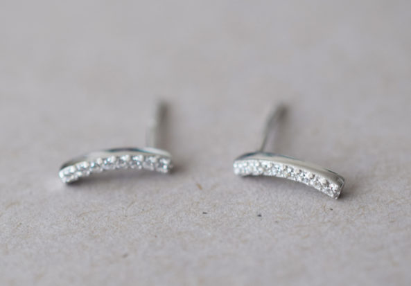 Earrings Curved Stones