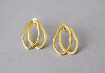 Earrings Double Shape