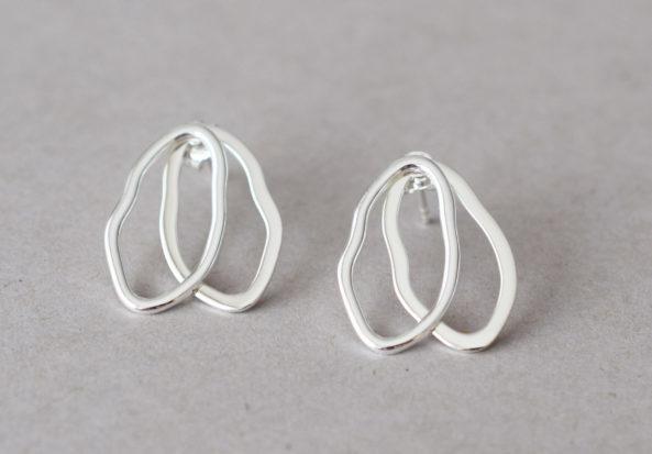 Earrings Double Shape