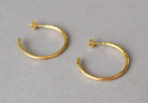 Earrings Hammered Creole