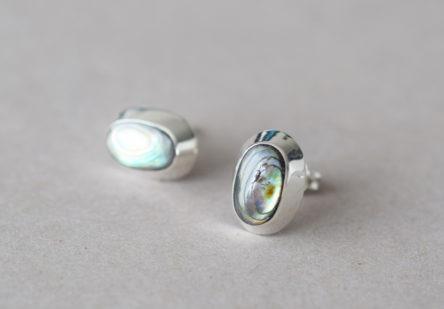 Earstuds Ovale Abalone Shell