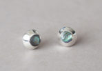 Earstuds Round Abalone Shell