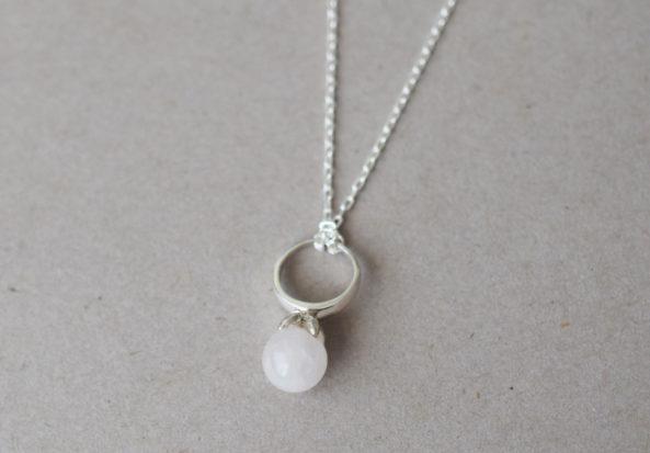 Necklace Flowerstone Rosequartz