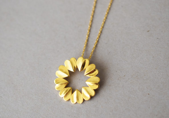 Necklace Heart Circle