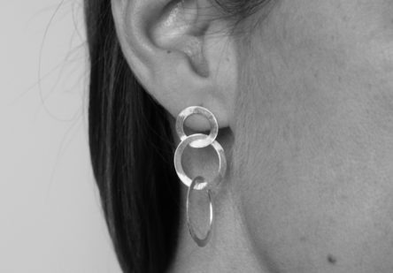 Earrings Bruched Circles