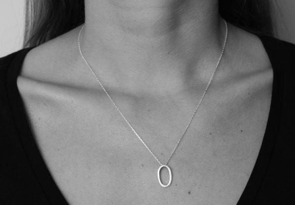 Necklace Ovale Brushed