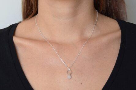 Necklace Flowerstone Rosequarz