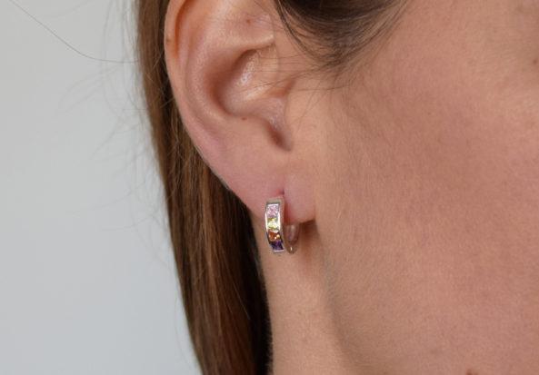 Earrings Creoles Stones