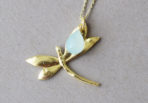 Necklace-Dragonfly-with-Aquachalcedon-Gemstone-2