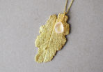 Necklace-Sage-Leaf-with-Rose-Quartz-Gemstone-1