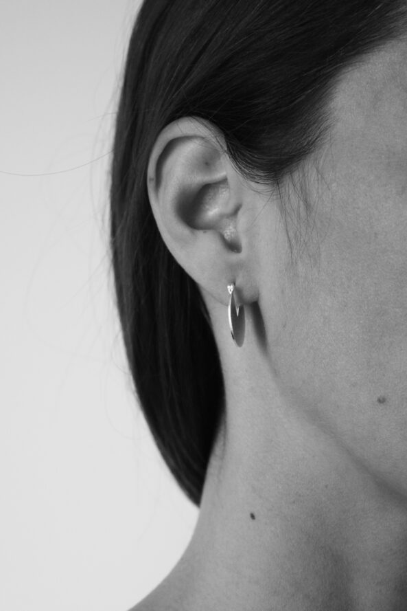 Earrings Brushed Disc
