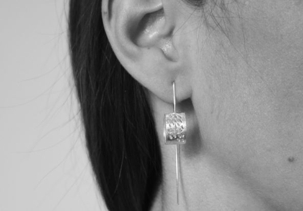 Earrings Brushed Dotty Circle